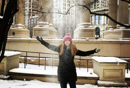 Cecilee Fleming in snow